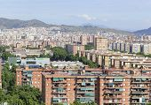 pic of suburban city  - Houses and apartments in Suburban sprawl of the City of coastal Barcelona - JPG