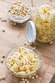 foto of soybean sprouts  - Portion of preserved Soy Sprouts  - JPG