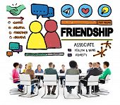 picture of comrades  - Friendship Group People Social Media Loyalty Concept - JPG