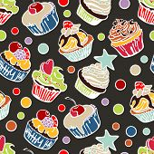 picture of cupcakes  - Collection of six cupcakes - JPG