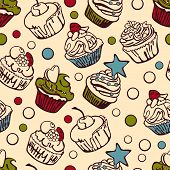 foto of cupcakes  - Collection of six cupcakes - JPG