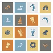 foto of sailfish  - Summer and Beach Simple Flat Icons - JPG