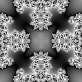 picture of monochromatic  - Seamless monochromatic fractal with spider like texture - JPG