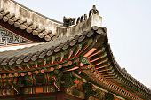 picture of korean  - Seoul Korean traditional architecture sky asian roof - JPG