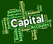 stock photo of prosperity  - Capital Word Meaning Assets Words And Prosperous - JPG