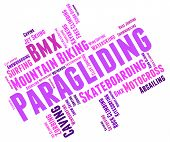 picture of parachute  - Paragliding Word Indicating Paraglider Paragliders And Parachute - JPG
