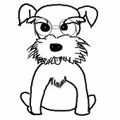 stock photo of schnauzer  - Hand painted Schnauzer for adv or others purpose use - JPG