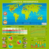 foto of comparison  - New logistic delivery costs comparison table and diagrams with destinations locations map infographics poster abstract vector illustration - JPG