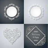 pic of swirly  - Swirly paper decor with shadow on gray - JPG
