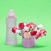 stock photo of perfume bottles  - Floral perfume - JPG