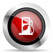 picture of biodiesel  - biofuel red glossy web icon original modern design for web and mobile app on white background  - JPG