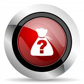 picture of riddles  - riddle red glossy web icon original modern design for web and mobile app on white background  - JPG