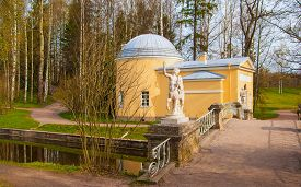 image of centaur  - The old bridge with centaurs in the park of Pavlovsk - JPG