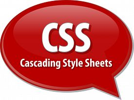 image of bubble sheet  - Speech bubble illustration of information technology acronym abbreviation term definition CSS Cascading Style Sheets - JPG