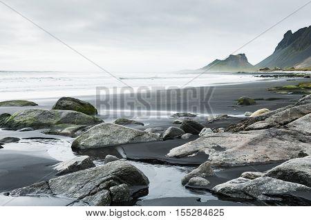 Beautiful Coast Of Atlantic Ocean. Iceland