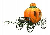 3D Rendering Cinderella Carriage On White poster