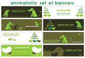 Animalistic set of stylish banners.  To see similar, please VISIT MY GALLERY.