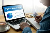 Personal Loan Money With Bank Employees Approve Contract poster