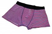 stock photo of boxer briefs  - some striped boxer briefs on a white background - JPG