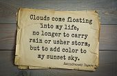 Top 40 quotes by Rabindranath Tagore - Indian writer,  musician, winner of Nobel Prize.   Clouds com poster