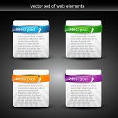 Постер, плакат: Web элемент дисплей с пространством для вашего текста