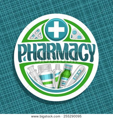 Vector Logo For Pharmacy Cut