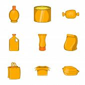 Pack Icons Set. Cartoon Illustration Of 9 Pack Icons For Web poster