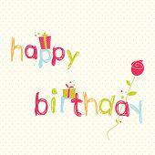 foto of happy birthday card  - Happy Birthday Card - JPG