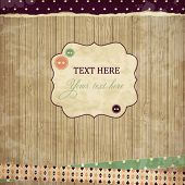 stock photo of wood design  - Scrap card - JPG