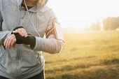 Watch For Sports With Smartwatch. Jogging Training For Marathon poster