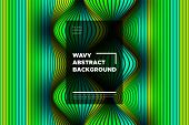 Movement. Trendy Abstract Background Of Waves. Modern Bright Flow Poster. Color Blend. Distortion Of poster