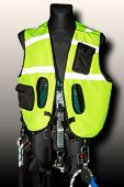 Protective Green Lightreflect Suit For Rescue Team Alpinism Mountaineering Climbing With Metal Carbi poster