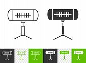 Heater Infrared Black Linear And Silhouette Icons. Thin Line Sign Of Heating Air. Climatic Equipment poster