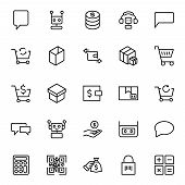 E-commerce Flat Icon Set . Single High Quality Outline Symbol Of Info For Web Design Or Mobile App.  poster