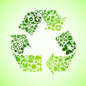 Green vector recycle icon