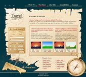 grey Vector Web site for travel agency