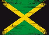 image of jamaican  - Jamaican grunge flag  An old  jamaican flag whith a texture - JPG