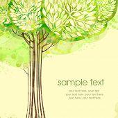Постер, плакат: Окрашенные дизайн акварель карточки с дерева и текст