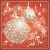 Постер, плакат: Рождественская открытка