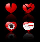 stock photo of broken-heart  - Broken hearts - JPG