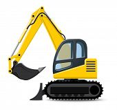 stock photo of dumper  - Excavator - JPG