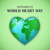September World Heart Day Concept Background. Realistic Illustration Of September World Heart Day Co poster