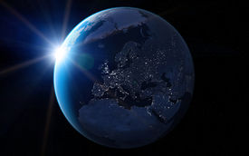 pic of planet earth  - Europe at night - JPG