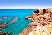 Постер, плакат: Ибица канал d en Марти ПУ des Lleo пляж в Балеарские острова Средиземного моря