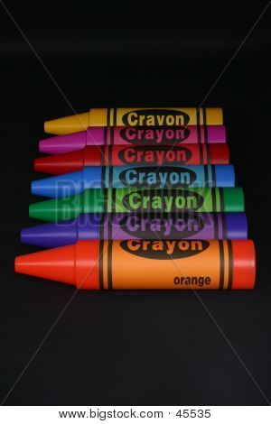 Line Of Crayons poster