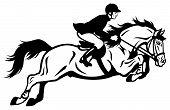 stock photo of horse-riders  - horse rider  - JPG