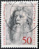 GERMANY - CIRCA 1974: A stamp printed in Germany shows Hans Holbein circa 1974