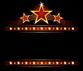 stock photo of marquee  - Big stars over place for your text - JPG