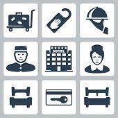 Vector Hotel Icons Set