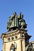 Statue Of Johannes Gutenberg, Inventor Of Book Printing, Frankfurt, Germany